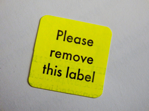 Please Remove this Label